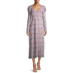 Prospect the Label Women's Puff Sleeve Rib Dress | Walmart (US)