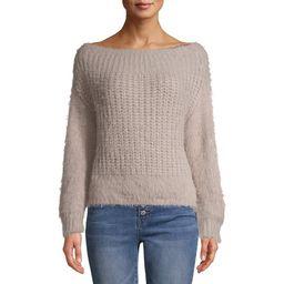 Dreamers by Debut Women's Off the Shoulder Eyelash Sweater   Walmart (US)