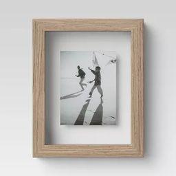 "4"" x 6"" Wood Float Frame Brown - Threshold™   Target"