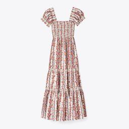 Printed Smocked Midi Dress | Tory Burch (US)