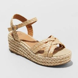 Women's Luisa Woven Straw Wedge - A New Day™ | Target