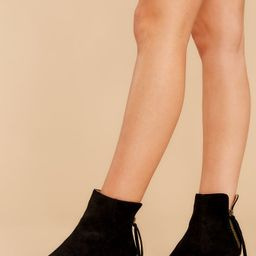 Taking These With Me Black Ankle Booties | Red Dress