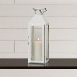 Tall Glass and Metal Lantern Gracie Oaks Color: White   Wayfair North America