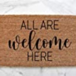 All Are Welcome Doormat, Cute Doormat, Welcome Mat, Outdoor Rug, Porch Decor, Welcome Doormat, Front   Amazon (US)