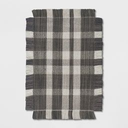 2'X3' Plaid Woven Accent Rug Gray - Threshold   Target