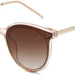 SOJOS Fashion Round Sunglasses for Women with Rivet Plastic Frame DOLPHIN SJ2068 | Amazon (US)