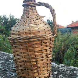 Vintage bottle, Old wine bottle Wicker, Bottle wrapped in woven straw, Green glass wine bottle,Ha...   Etsy (US)