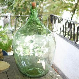 Vintage Large Green Glass Demijohn 25 liters//wine Demijohns//French glass demijohn carboy wine b...   Etsy (US)