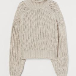 Ribbed polo-neck jumper | H&M (UK, IE, MY, IN, SG, PH, TW, HK, KR)