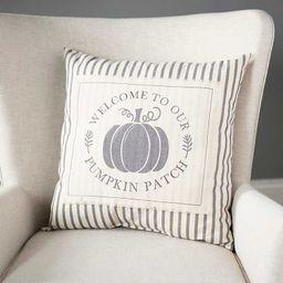 New!Gray Striped Pumpkin Patch Pillow | Kirkland's Home