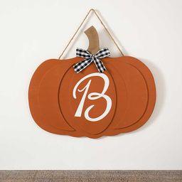 New!Painted Monogram B Pumpkin Plaque   Kirkland's Home