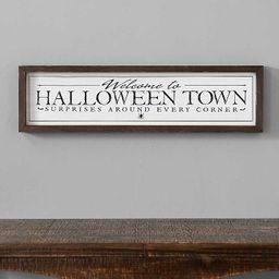 New!Halloween Town Framed Wall Plaque   Kirkland's Home