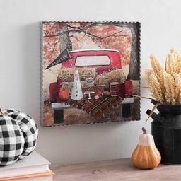 Red Truck Tailgate Time Framed Art Print | Kirkland's Home