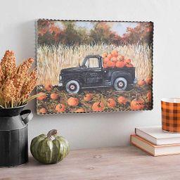 Pumpkin Patch Harvest Truck Framed Art Print | Kirkland's Home