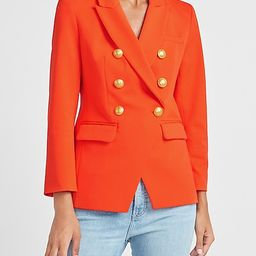 Double Breasted Button Front Blazer   Express