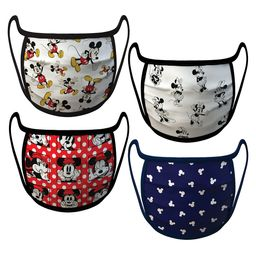 Mickey and Minnie Mouse Cloth Face Masks 4-Pack Set   shopDisney