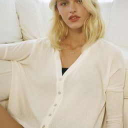 UO Rose Ribbed Cropped Cardigan | Urban Outfitters (US and RoW)