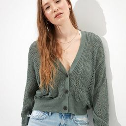 AE Pointelle Button Up Cardigan | American Eagle Outfitters (US & CA)