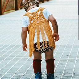 NESO FRINGE VEST| Infant| Baby| Toddler| Child| Boho Wear | Festival Top | Photoshoot outfit | Ma... | Etsy (US)