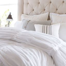 Hadley Ruched Cotton Duvet Cover & Shams | Pottery Barn (US)