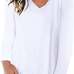 SAMPEEL Womens Fall Long Sleeve Tops Casual Tee Shirts Plus Size Clothes   Amazon (US)