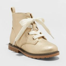 Toddler Girls' Giovanna Lace-Up Combat Boots - Cat & Jack™ Gold | Target
