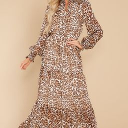 Steady As She Goes Leopard Print Maxi Dress   Red Dress