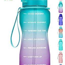 Fidus Large Half Gallon/64oz Motivational Water Bottle with Time Marker & Straw,Leakproof Tritan ... | Amazon (US)