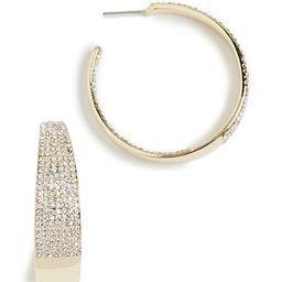 Gold Crystal Hoop Earrings   Shopbop