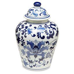 Blue Floral Ginger Jar w/Lid   One Kings Lane