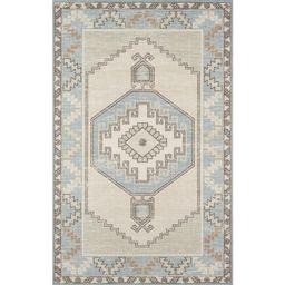 "Momeni Anatolia Wool and Nylon Machine Made Light Blue Area Rug 5'3"" X 7'6"" | Walmart (US)"