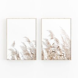 Pampas Grass Print Set Of 2 For Rustic Farmhouse Decor  | Etsy | Etsy (UK)