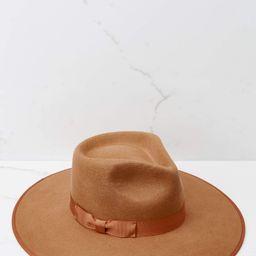 Light Brown Rancher Hat | Red Dress