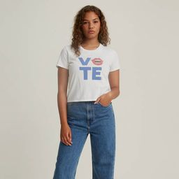 Levi's® x Vote Cropped Surf Tee Shirt | LEVI'S (US)