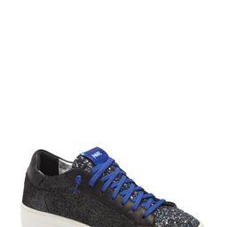 Women's P448 Thea Glitter Platform Sneaker, Size 10.5-11US - Black | Nordstrom