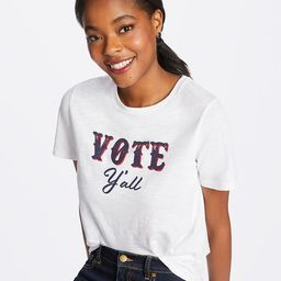 Vote Y'All Crewneck Slub Tee | Draper James (US)