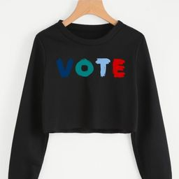 Vote Cropped Sweatshirt  Voting Crop Top Sweater  2020 | Etsy | Etsy (US)