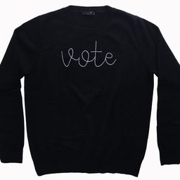 VOTE 100% CashmereHand Embroidered Sweatshirt Embroidered | Etsy | Etsy (US)