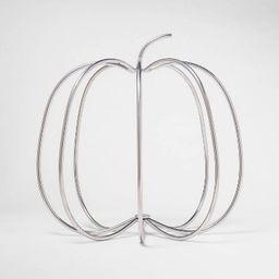 Silver Wire Harvest Pumpkin Decorative Accent Sculpture - Threshold™   Target