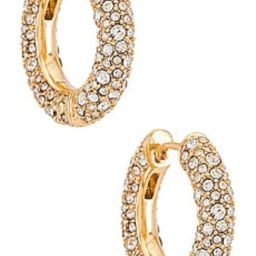 BaubleBar Carina Huggie Hoops in Clear from Revolve.com   Revolve Clothing (Global)
