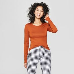 Women's Slim Fit Long Sleeve T-Shirt - A New Day™   Target