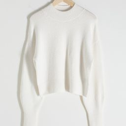 Mock Neck Cropped Sweater   & Other Stories