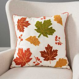 New!Multi Colored Leaves Pillow | Kirkland's Home