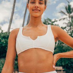 Saltwash White Ribbed Bralette Bikini Top | Lulus (US)