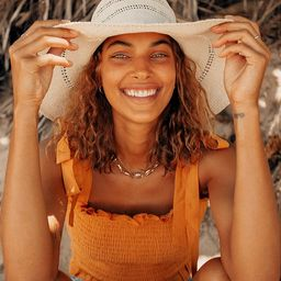Sunny Attitude Beige Floppy Straw Hat | Lulus (US)