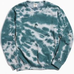 Moon Icon Sun Bleach Tie-Dye Crew Neck Sweatshirt   Urban Outfitters (US and RoW)