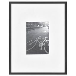 Thin Gallery Matted Photo Frame Black - Project 62™   Target