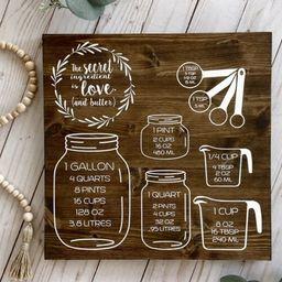 Kitchen Conversion Wood Sign | Etsy (US)