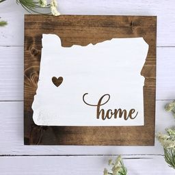 Home Sign, Home Sign with Heart Over City, Wooden Home Sign, Wooden Home Sign with Heart Over Cit... | Etsy (US)