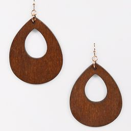 Large Teardrop Cut Out Drop Earrings | Maurices